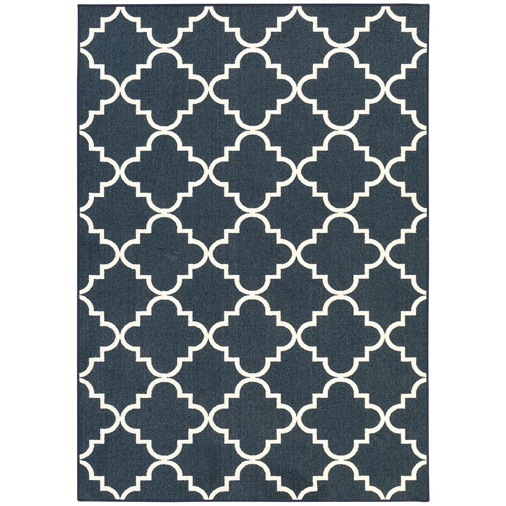 Mohawk Home Fancy Trellis Navy 5 Ft X 7 Ft Area Rug