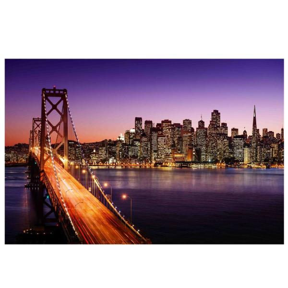 LED Lighted Famous San Francisco Oakland Bay Bridge Canvas Wall Art 15 75