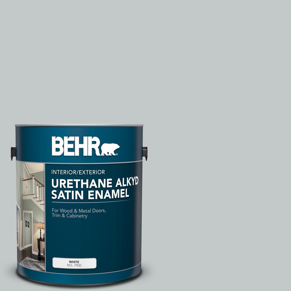 BEHR 1 gal. #N450-2 Zero Gravity Urethane Alkyd Satin Enamel Interior/Exterior Paint