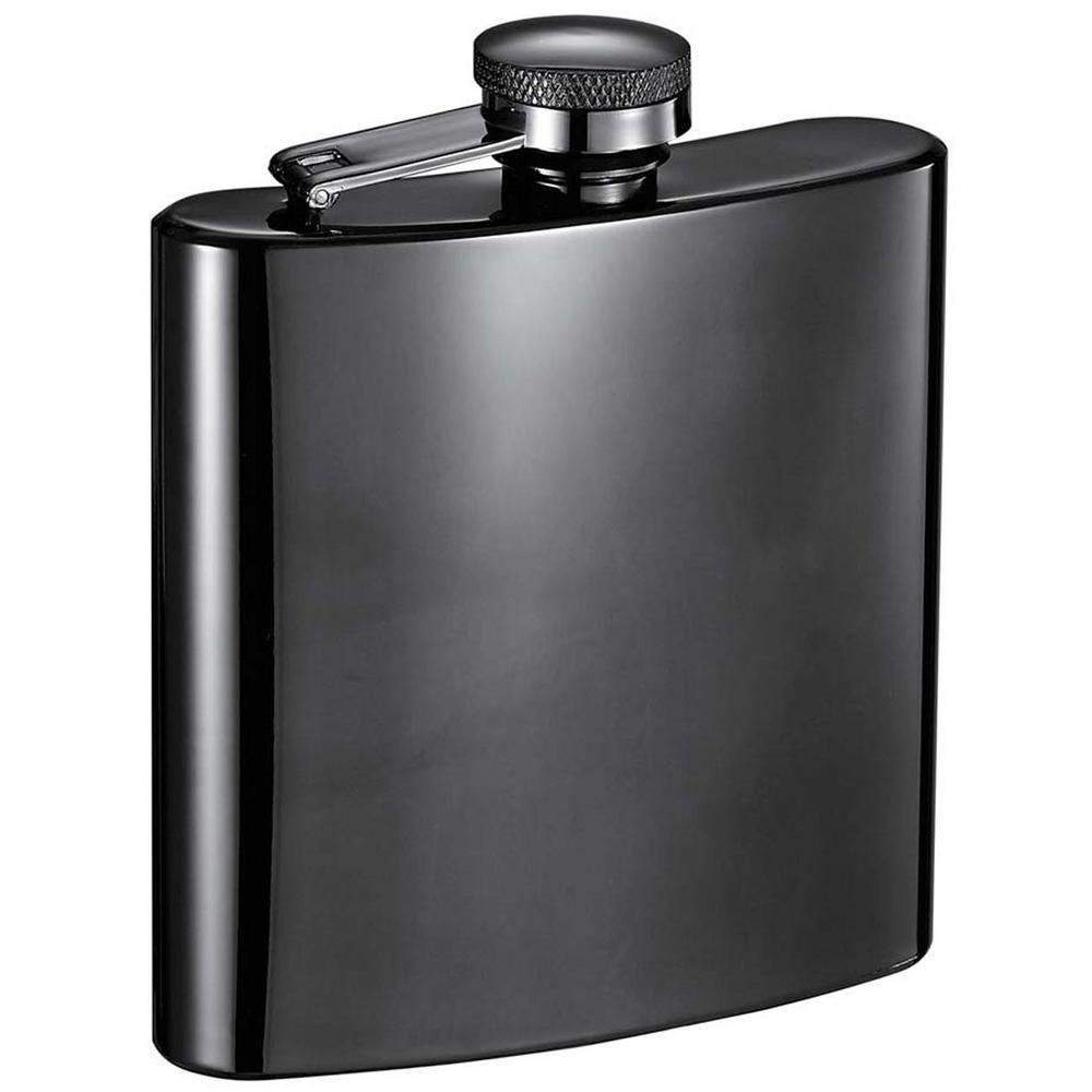 visol 6 oz outlaw gunmetal liquor flask vf6001 the home depot