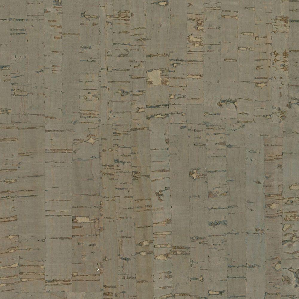 Misha Dark Grey Wall Cork Wallpaper