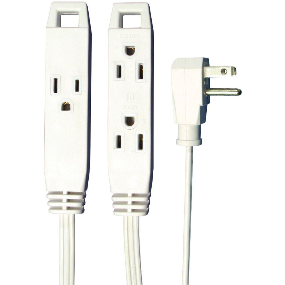 axis 8 ft  3-outlet indoor extension cord-45505