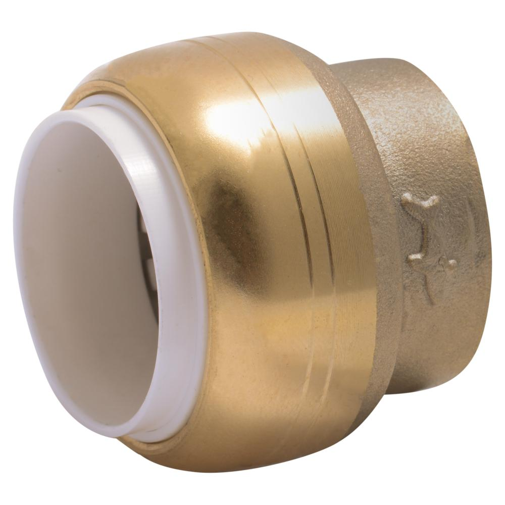 1/2 in. PVC IPS Brass Push-to-Connect End Stop
