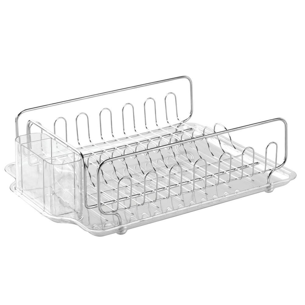 Interdesign Forma Lupe Dish Drainer In Clear 68980 The