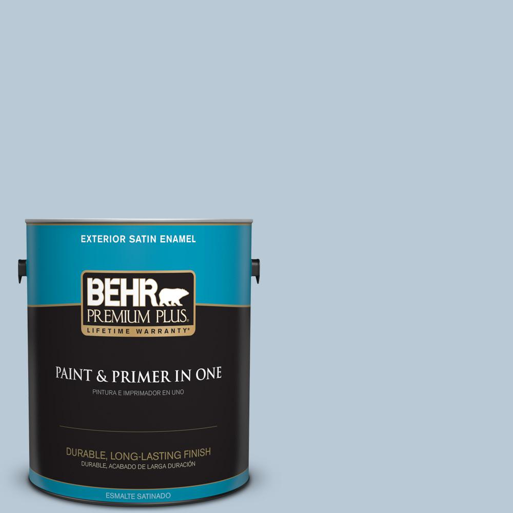 1 gal. #PPU14-15 Denim Light Satin Enamel Exterior Paint