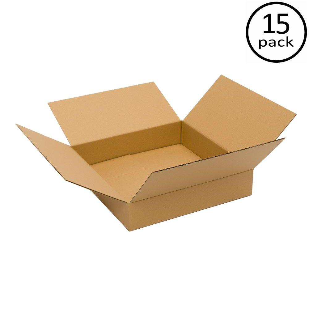 Plain Brown Box 20 in. x 20 in. x 6 in. 15 Moving Box Bundle