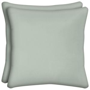 Bayou Solid Square Outdoor Throw Pillow (2-Pack)
