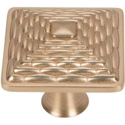 Mandalay 1-1/4 in. Champagne Square Knob