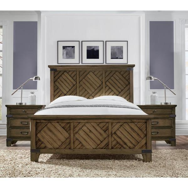 Baltimore Vintage Brown California King Bed