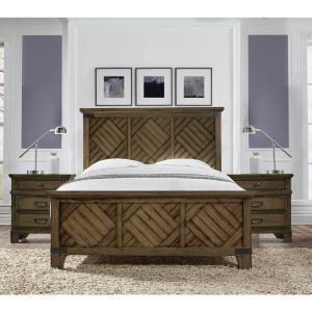 Baltimore Vintage Brown California King Bed