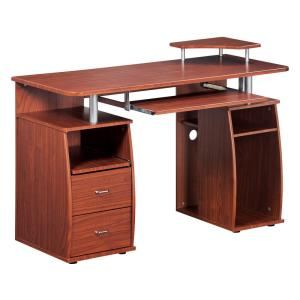 Mahogany Complete Computer Workstation Desk with Storage by