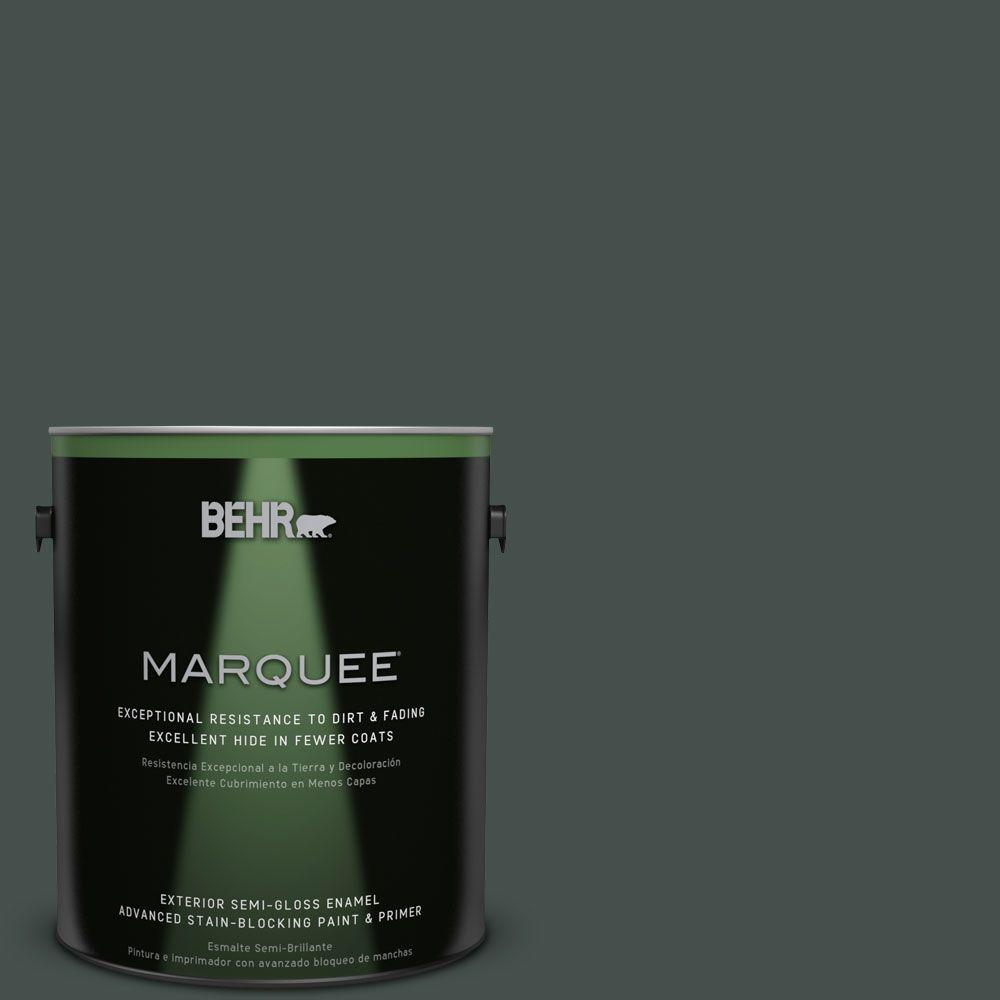 1-gal. #QE-48 New Forest Semi-Gloss Enamel Exterior Paint