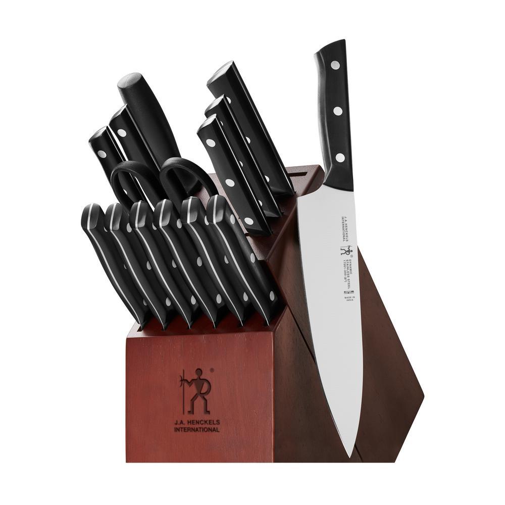 Dynamic 15-Piece Stainless Steel German Knife Block Set