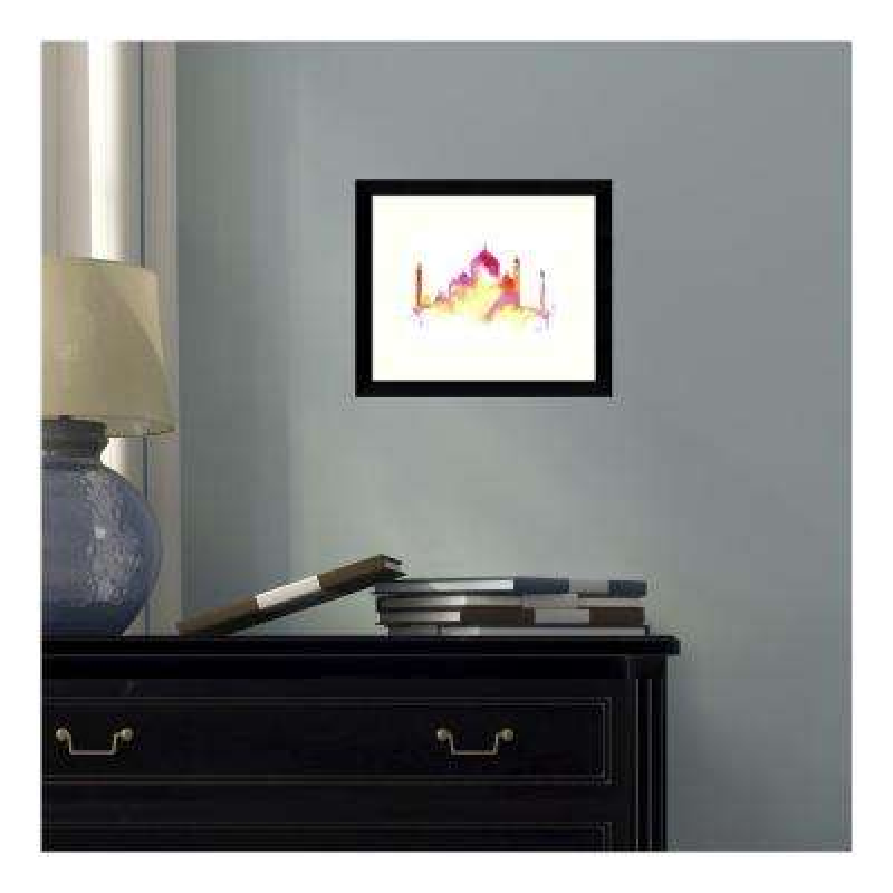 11 in. W x 9 in. H 'India Dreams (Taj Mahal)' by Jessica Durrant Printed Framed Wall Art