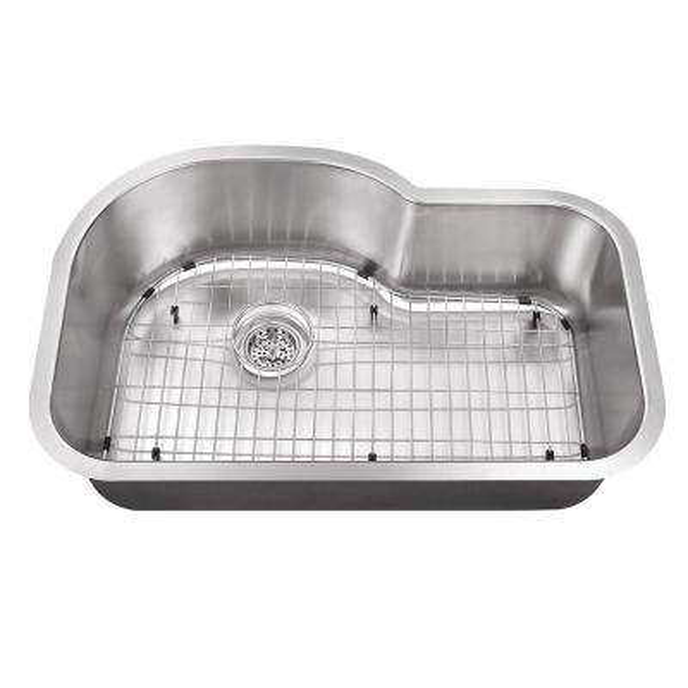 Undermount Stainless Steel 31-1/2 in. Single Bowl Kitchen Sink Kit