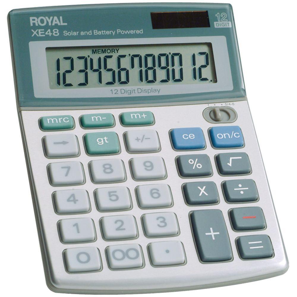 29306S Compact Desktop Solar 12-Digit Calculator