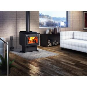 Century FW3000 25 inch Wood Stove 2000 sq. ft. with Blower EPA Certified by Wood Stoves