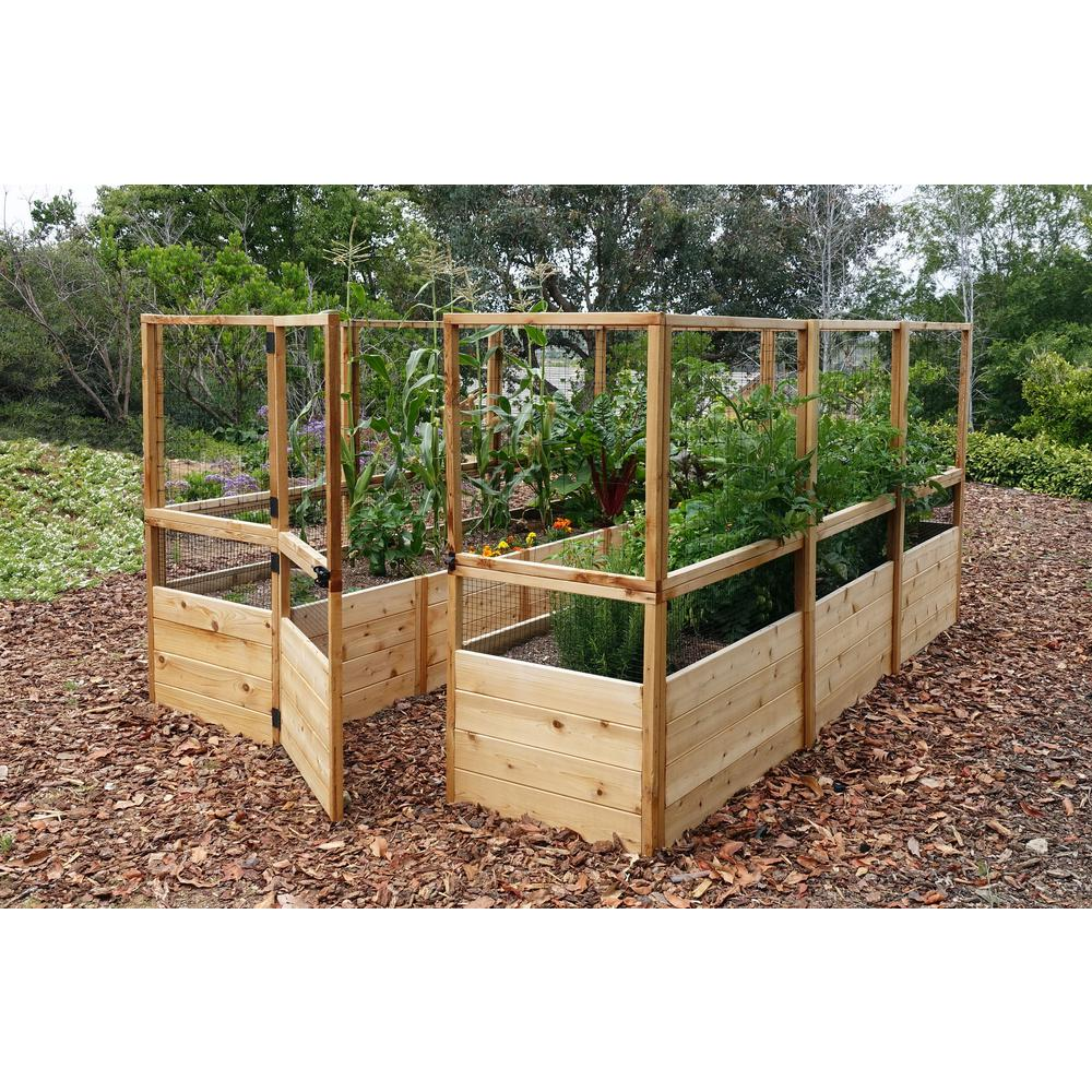 Outdoor Living Today 8 Ft X 12 Ft Garden In A Box With Deer