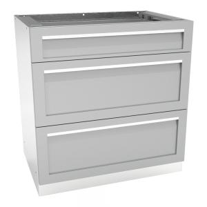 4 Life Outdoor Stainless Steel 3 Drawer 32x35x22.5 in ...