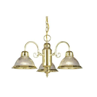 Negron 3-Light Polished Brass Incandescent Pendant