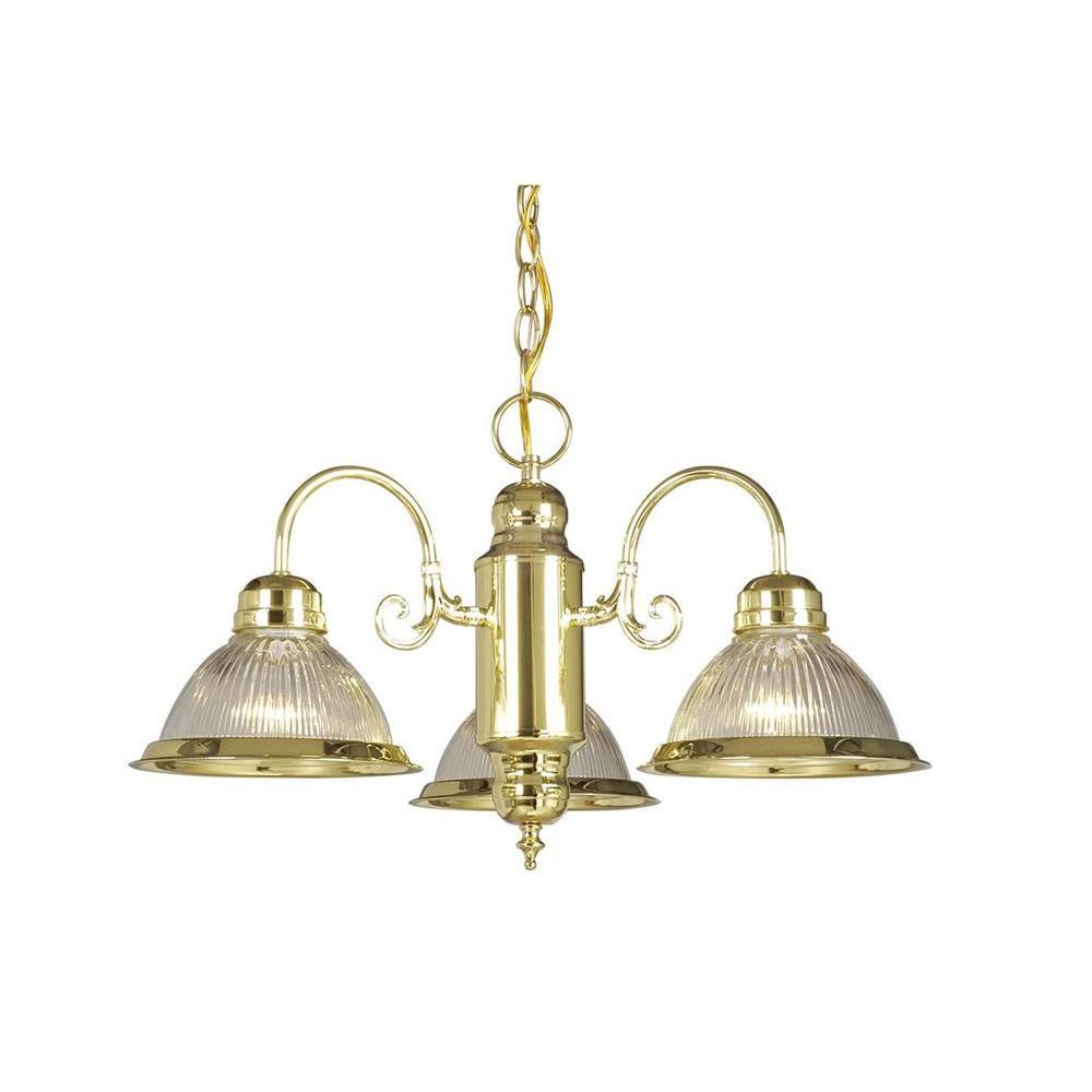 Filament Design Negron 3-Light Polished Brass Incandescent Pendant