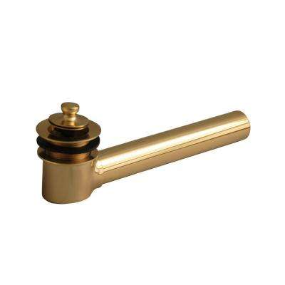 Tub Shoe Drain in Polished Brass