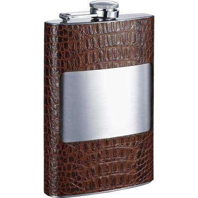 Rockford Handcrafted Cognac Leather Liquor Flask