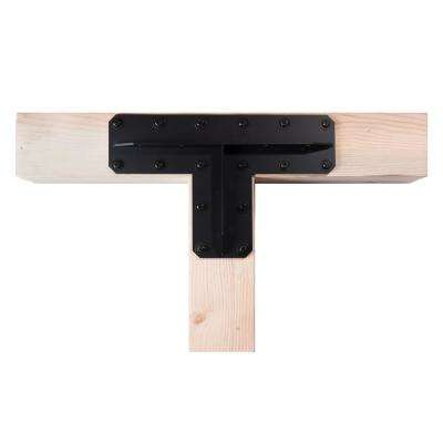 3 in. Ribbed Tanto T Timber Plate - Raw Steel