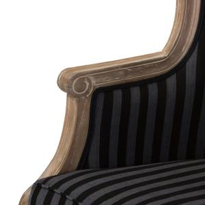 Pleasant Baxton Studio Charlemagne Black Stripes Fabric Upholstered Pabps2019 Chair Design Images Pabps2019Com