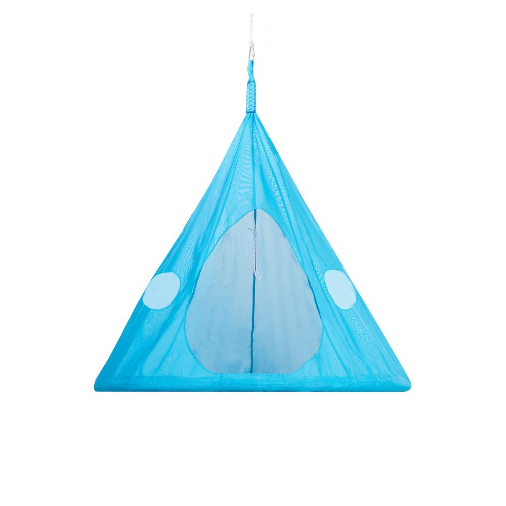 5 ft. x 5 ft. Dia Portable Hammock in Blue