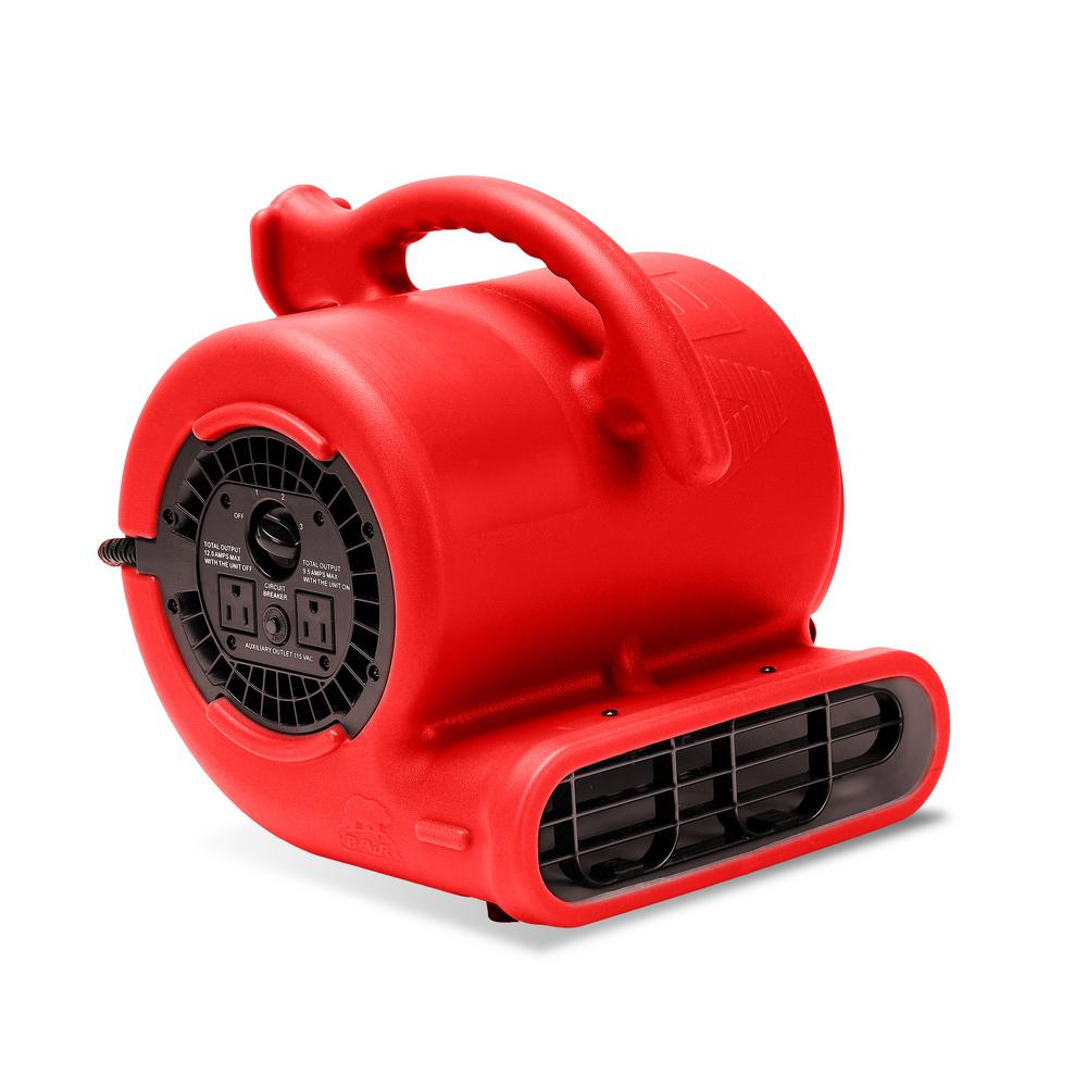 B Air 1 4 Hp Air Mover For Water Damage Restoration Carpet