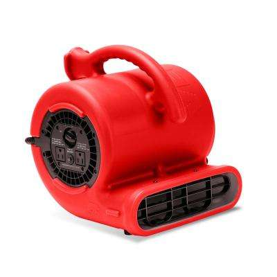 1/4 HP Air Mover for Water Damage Restoration Carpet Dryer Floor Blower Fan Home and Plumbing Use, Red