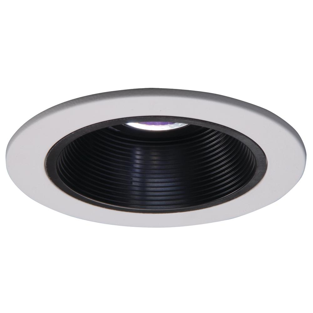 halo low voltage 4 in white recessed ceiling light trim with black
