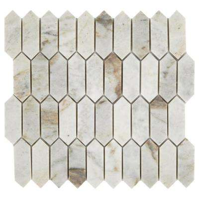 Restore Coastal Polished 11 in. x 11 in. x 8mm Marble Mosaic Tile