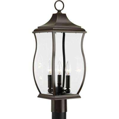 Township Collection 3-Light Oil-Rubbed Bronze Outdoor Post Lantern