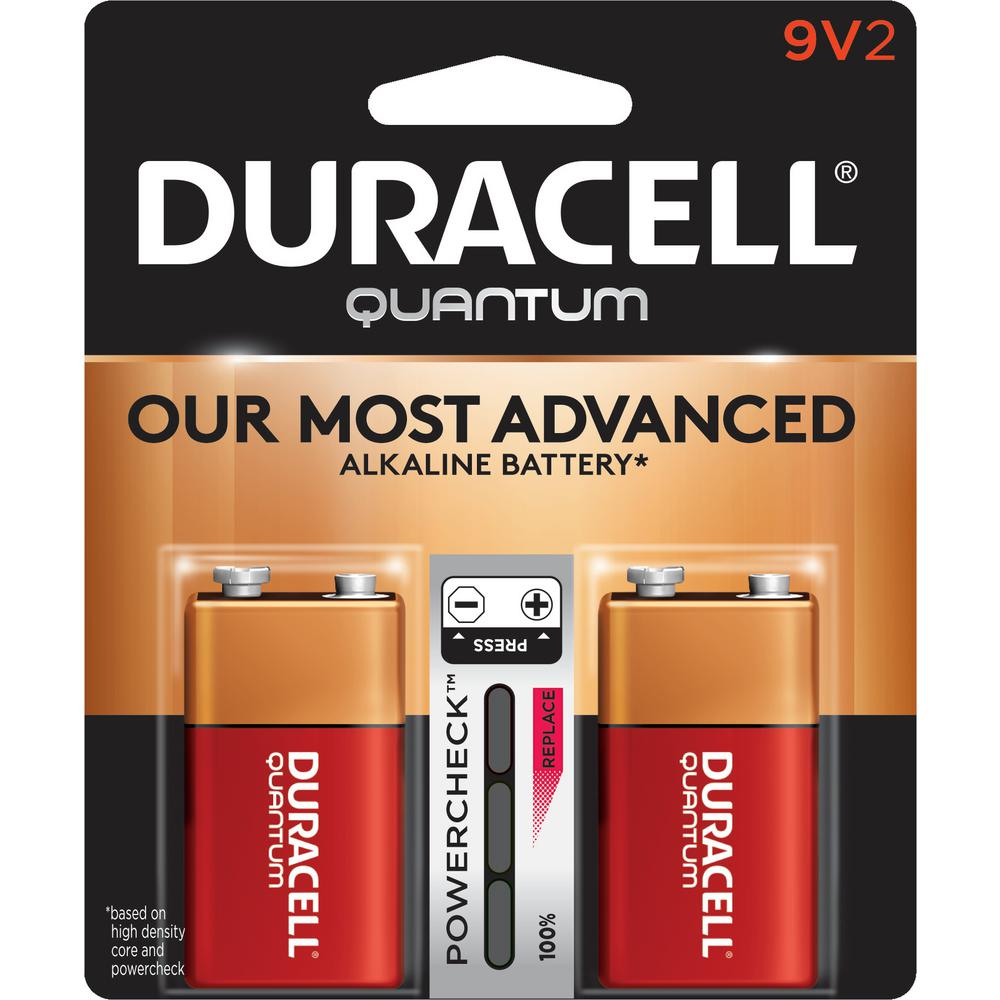 duracell quantum alkaline 9 volt battery 2 pack. Black Bedroom Furniture Sets. Home Design Ideas