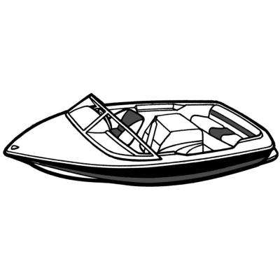 20 ft. 6 in. L x 90 in. Cover W Styled-to-Fit Tournament Ski Boat