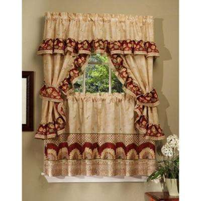 Semi-Opaque 57 in. x 24 in. Sunflower Printed Cottage Set