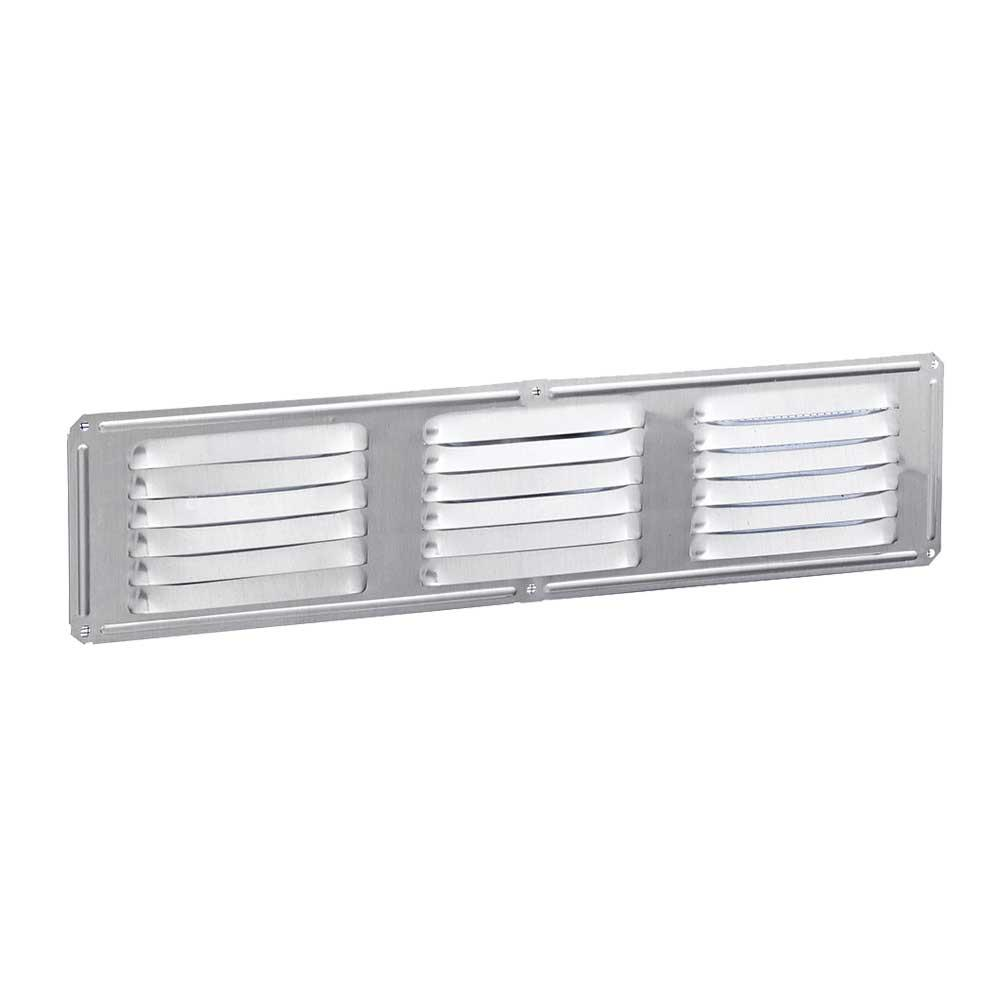 Construction Metals 16 in. x 4 in. Galvanized Steel Louvered Soffit Vent