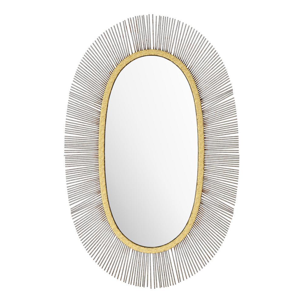 ZUO - Medium Oval Black Modern Mirror (38.2 in. H x 24.5 in. W)