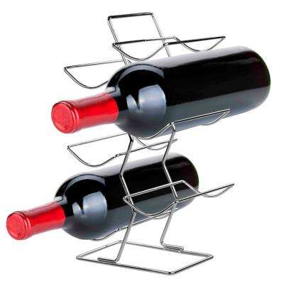 6-Bottle Chrome Wine Rack