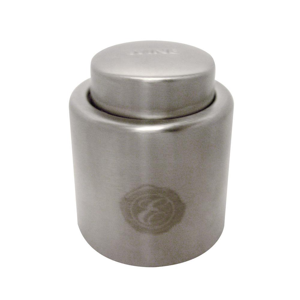 2-Piece Stainless Steel Wine Bottle Stopper Set