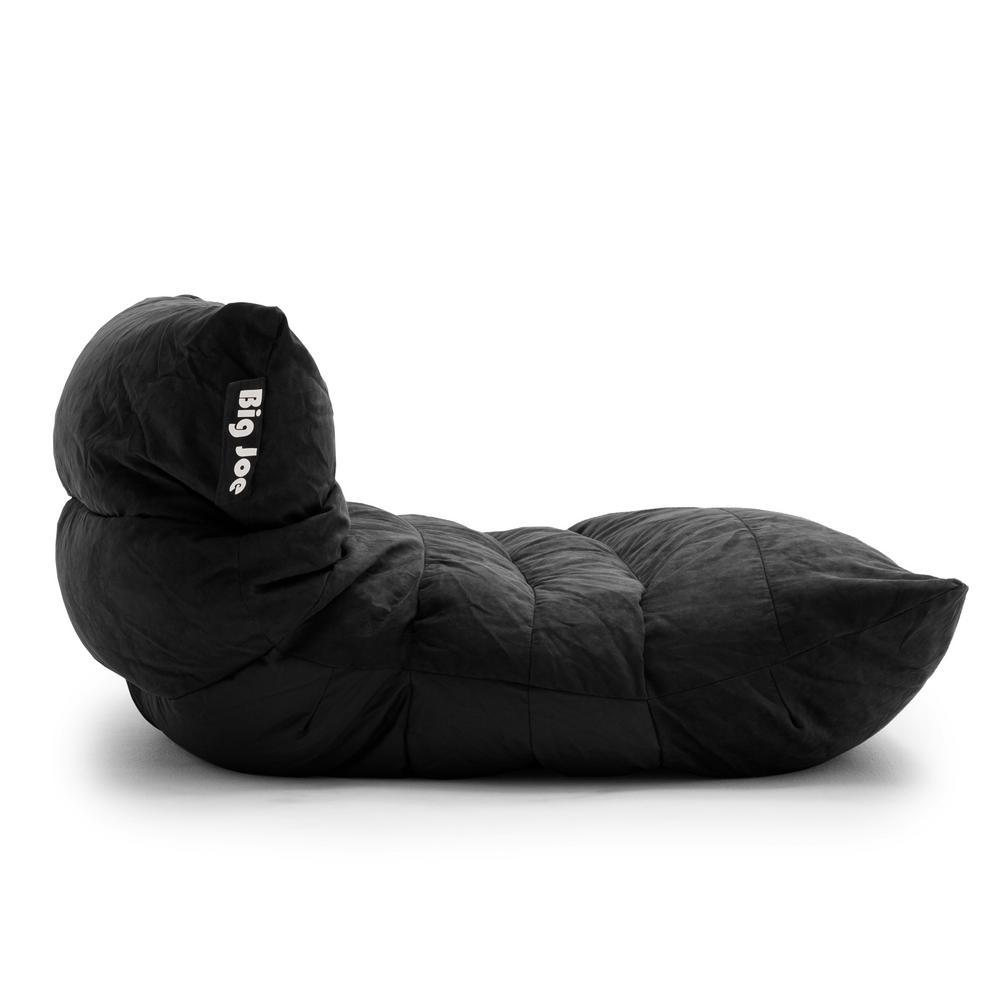 Excellent Big Joe Roma Chair Black Comfort Suede Plus Bean Bag 0657378 Pabps2019 Chair Design Images Pabps2019Com