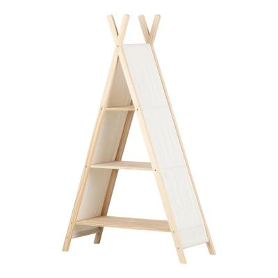 Sweedi Natural Cotton and Pine Teepee Shelving Unit