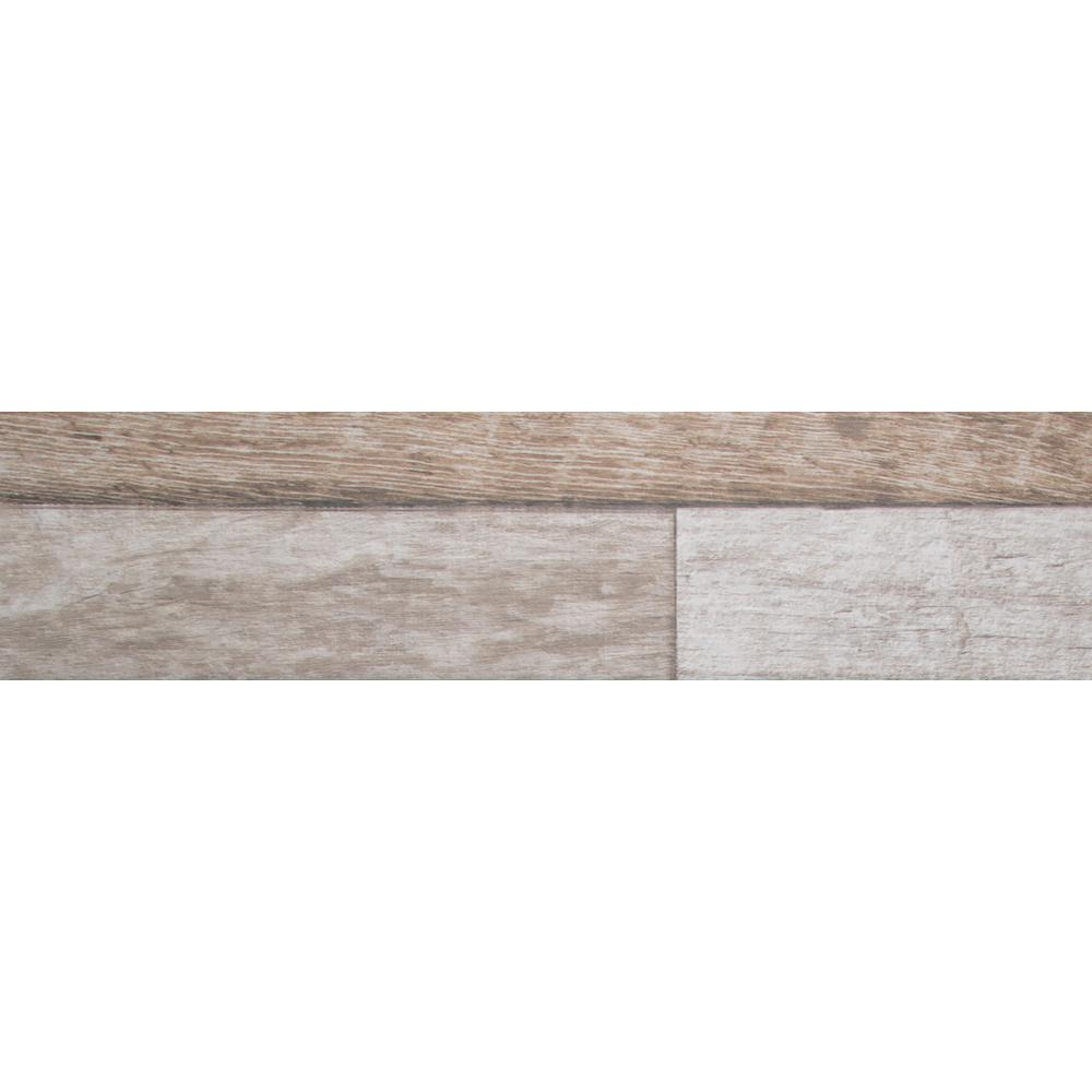 Alpine Pattern 8 in. x 36 in. Glazed Porcelain Floor and
