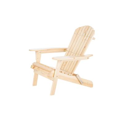 Classic Natural Folding Wood Oceanic Adirondack Chair