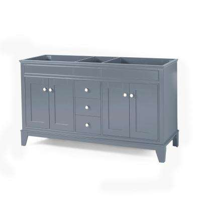 Finlee 60 in. W x 22 in. D Bath Vanity Cabinet Only in Grey