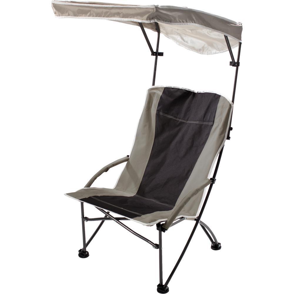 Pro-Comfort Black/Tan Polyester and Nylon High Armchair