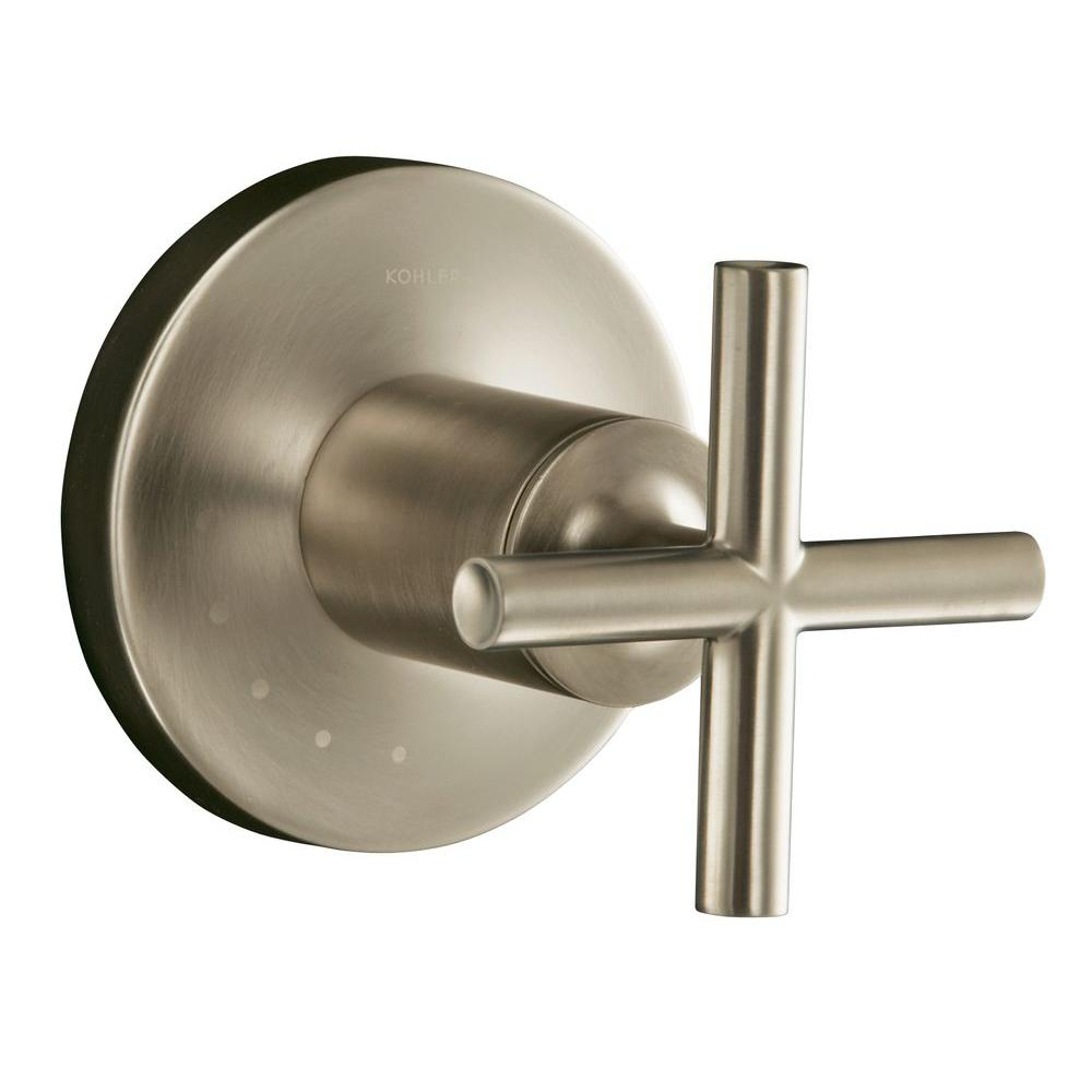 KOHLER Purist 1-Handle Volume Control Valve Trim Kit in Vibrant Brushed Nickel (Valve Not Included)