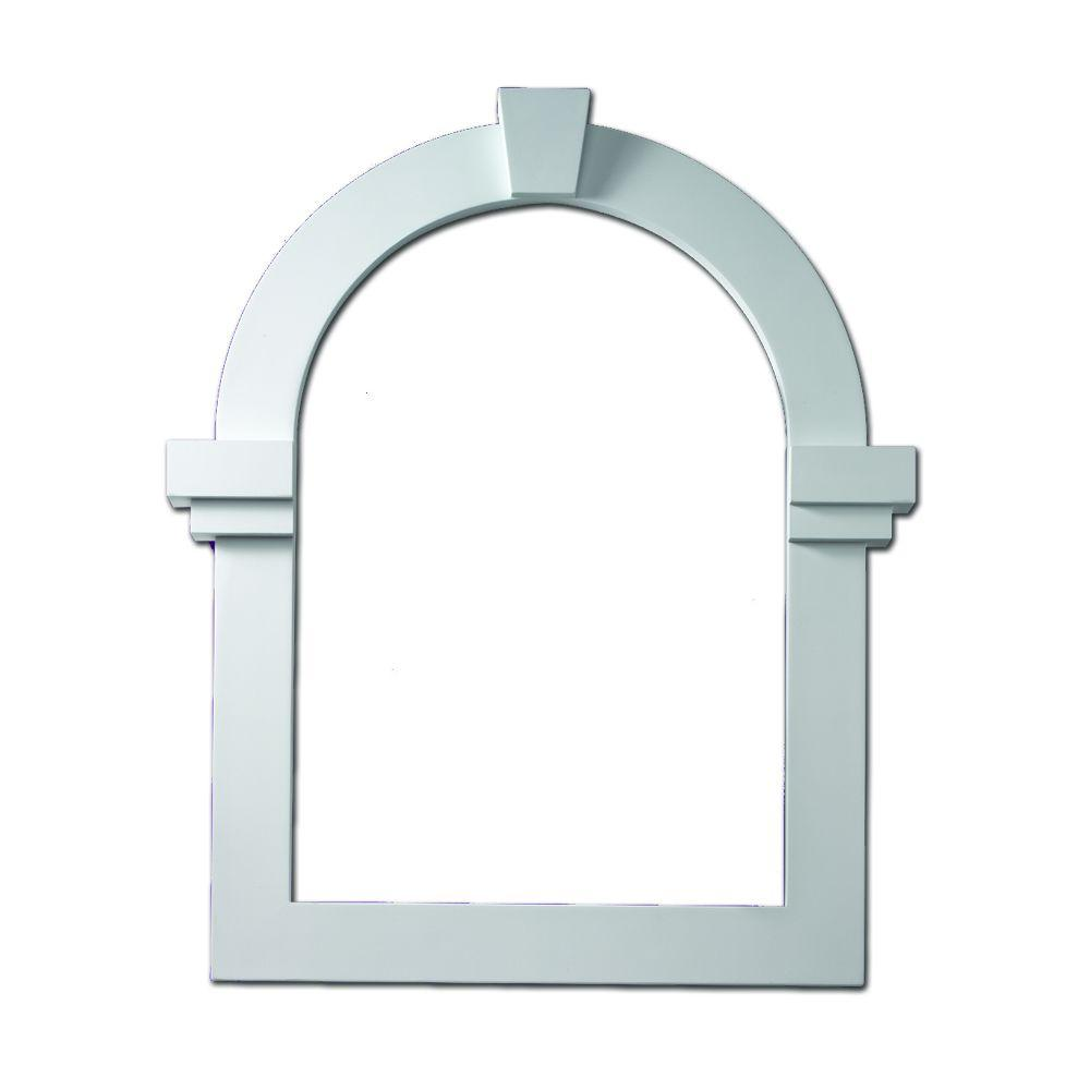 Fypon 22 3 16 in x 31 11 16 in x 1 in polyurethane for Fypon gable trim